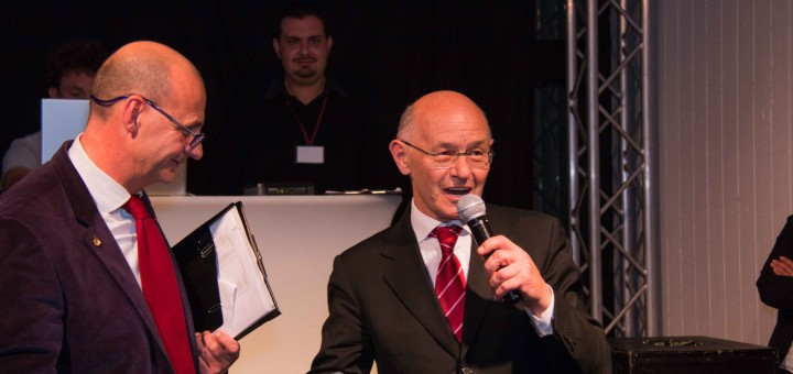 Silvio Borghesan con il Presidente Ernesto Molteni